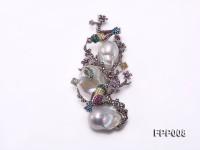 Fine White Baroque Pearl Pendant/Brooch