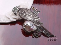 Fine Parrot-style Lavender Baroque Pearl Pendant/Brooch