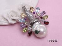 Fine Peacock-style White Baroque Pearl Pendant