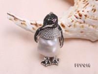 Fine Penguin-style White Baroque Pearl Pendant