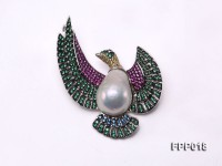 Fine Flying-bird-style White Baroque Pearl Pendant