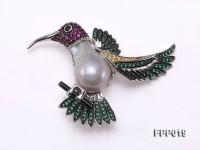 Fine Bird-style White Baroque Pearl Pendant
