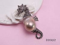Fine Seahorese-style Lavender Baroque Pearl Pendant