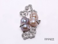 Fine Bird-style Pink and Lavender Baroque Pearl Pendant