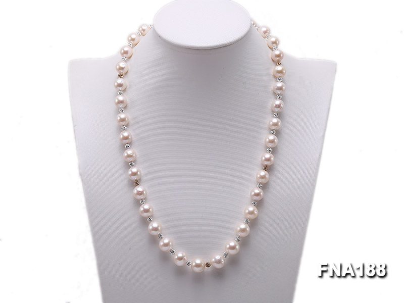 10-12mm White Edison Pearl Necklace