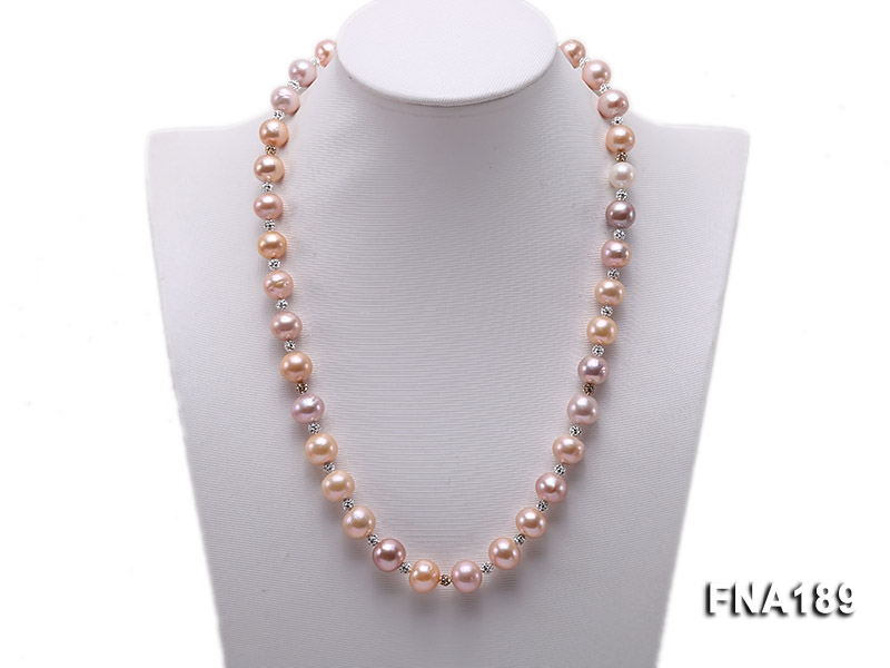 12mm Pink and Lavender Edison Pearl Necklace
