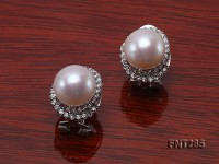 12mm White Freshwater Pearl Stud Earrings and Ring Set
