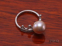 Crown-style 9.5mm Lavender Freshwater Pearl Ring