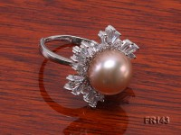 11.5mm Pink Freshwater Pearl Ring in Sterling Silver
