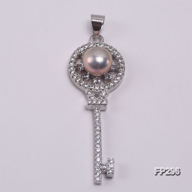 7.5mm Lavender Flat Freshwater Pearl Pendant in Sterling Silver