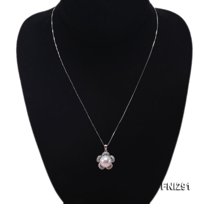 8-12mm White Freshwater Pearl Pendant and Earrings Set