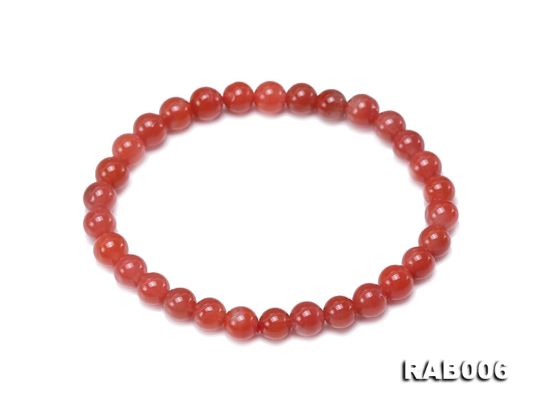6-6.5mm Natural Nanhong Agate Bracelet