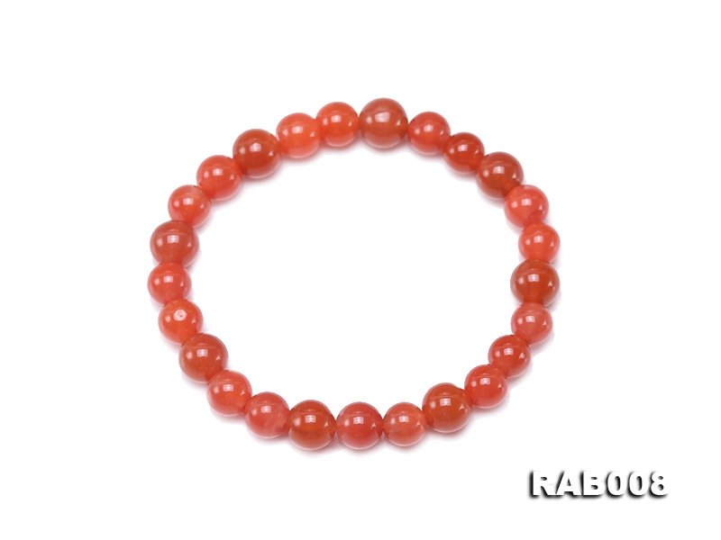 7-8.5mm Natural Nanhong Agate Bracelet