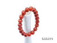 10-10.5mm High-grade Natural Nanhong Agate Bracelet