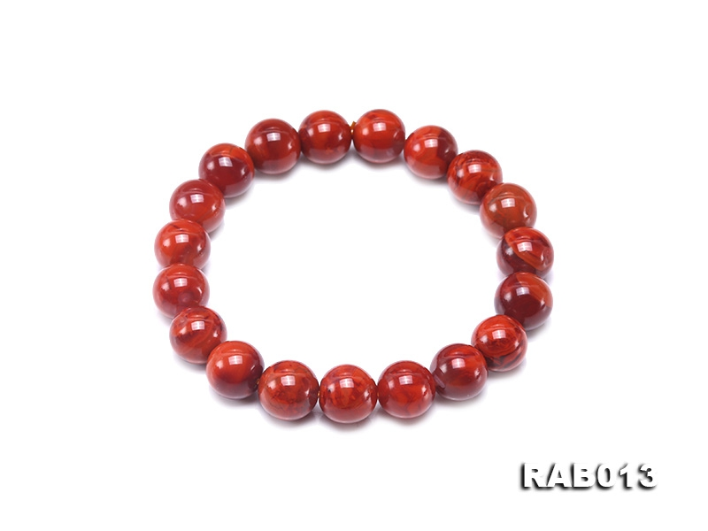10-10.5mm High-grade Natural Nanhong Agate Bracelet