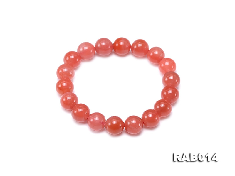 10.5-11mm High-grade Natural Nanhong Agate Bracelet