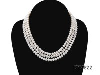 Classical 6-7mm White Pearl Long Necklace