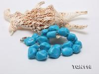 20×25-25x30mm Irregular Blue Simulated Lapis Necklace