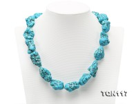 20×25-25x30mm Baroque Blue Simulated Turquoise Necklace