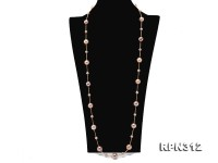 Gorgeous 12-14.5mm Round Multi-color Edison Pearl Necklace in Sterling Silver