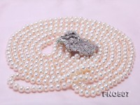 High Grade 7.5-8.5mm Three-Strand Freshwater Pearl Opera Necklace
