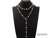 Elegant 9.5-10.5mm Round White Freshwater Pearl Necklace in Sterling Silver