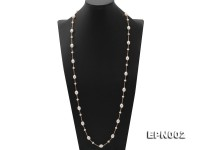 Elegant8.5×11-9×11.5mm Oval White Freshwater Pearl Necklace in Sterling Silver