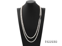 High Grade 6.5-7.5mm Two-Strand Freshwater Pearl Opera Necklace