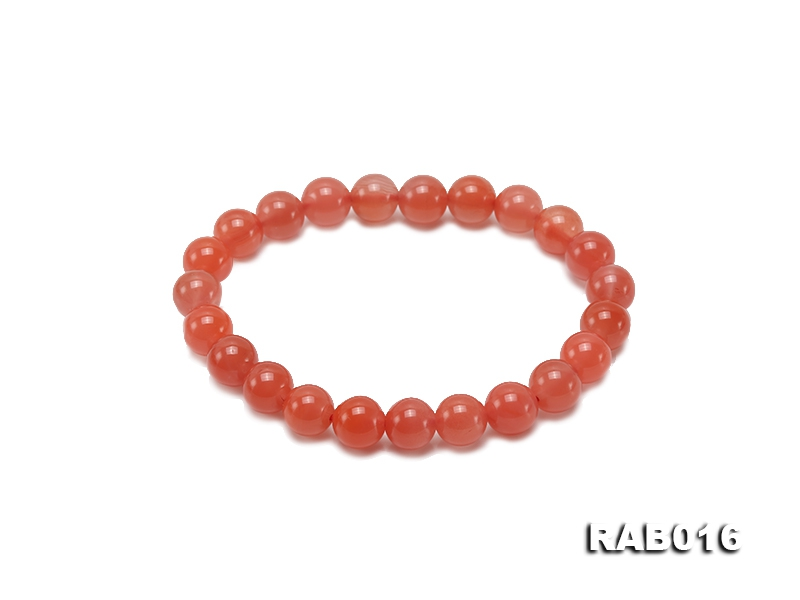 8.5-9mm Natural Nanhong Agate Bracelet