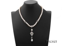 Classic 7-7.5mm White Pearl Necklace