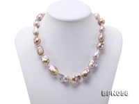 12×16.5-13.5×25mm Lavender Baroque Edison Pearl Necklace