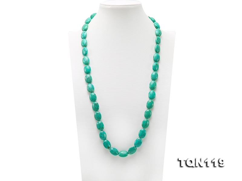 15×20-16×20.5mm Blue Simulated Turquoise Necklace