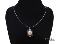 Luxurious 15mm Golden South Sea Pearl Pendant in 14k Gold