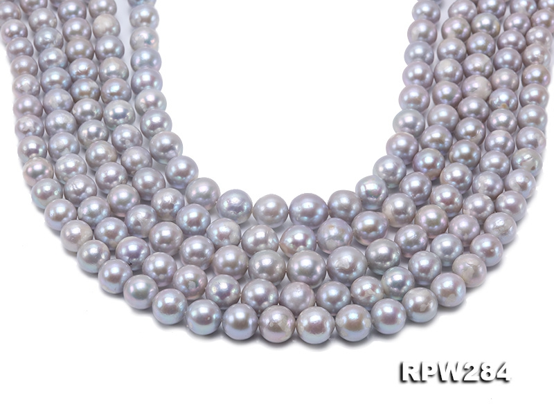 Wholesale 8.5-11mm Grey Near Round Freshwater Pearl String
