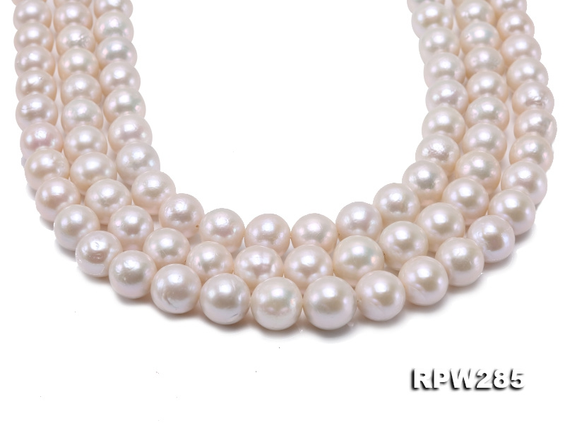Wholesale 11-14mm White Round Edison Pearl String