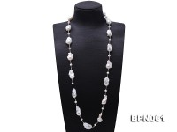 15.5×25-22×30mm White Baroque Pearl Necklace in Sterling Silver