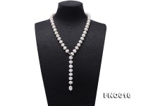 9-10mm White Freshwater Pearl Adjustable Necklace