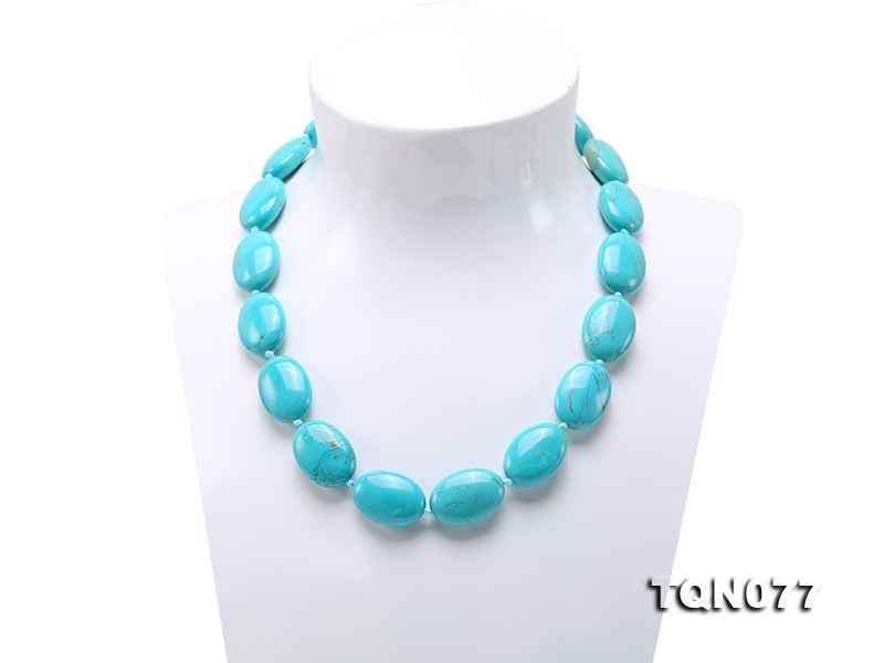 18x25mm Oval Blue Turquoise Necklace