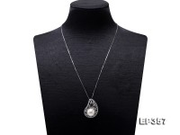 12.5mm White Edison Pearl Pendant in Sterling Silver