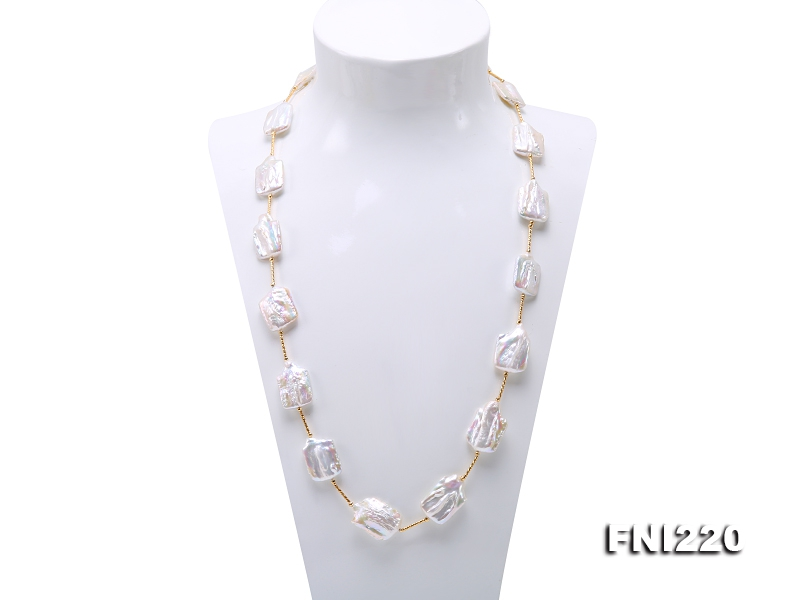 16.5×21-18×26mm White Baroque Pearl Necklace