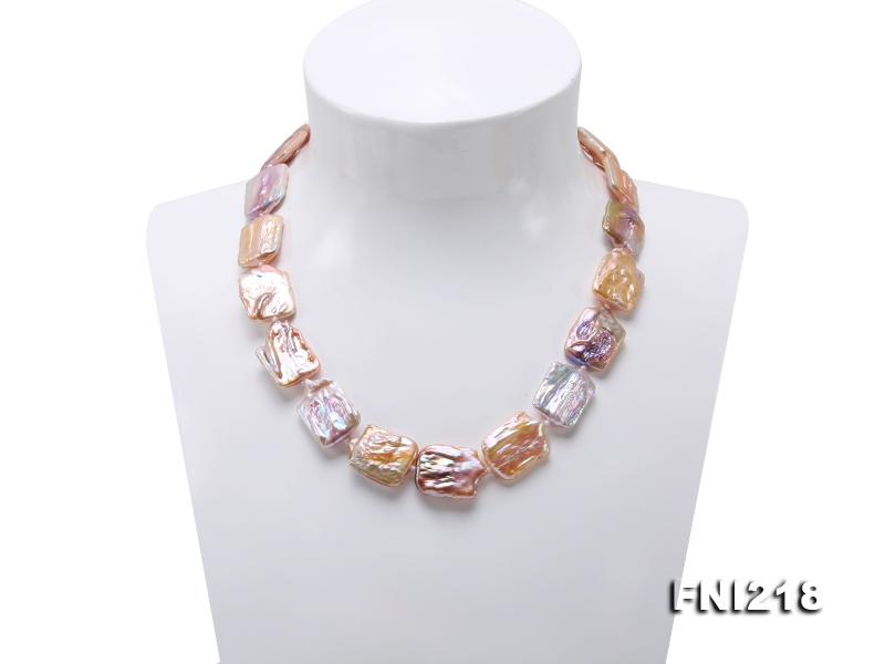 16.5×25-17×25mm Light Lavender Baroque Pearl Necklace