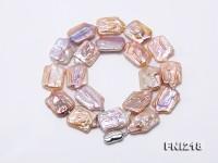 16.5×25-17×25mm Light Lavender Baroque Pearl Necklace