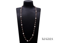 10.5-11.5mm White Edison Pearl Opera Chain Necklace