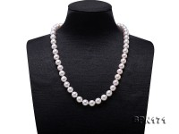 Natural 8.5-9mm White Round Akoya Seawater Cultured Pearl Necklce