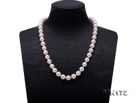 Natural 9-9.5mm White Akoya Seawater Pearl Necklace