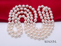 Natural 9-9.5mm White Round Akoya Seawater Pearl Opera Necklace