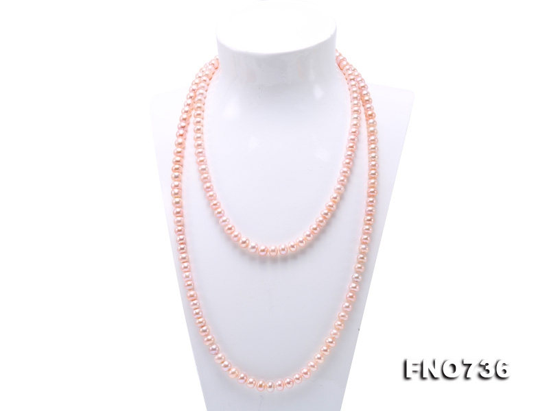 Classical 8-9mm Lavender Pearl Long Necklace