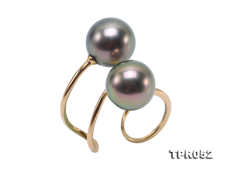 Precious 10.5mm Tahitian Pearl Ring in 14k Gold