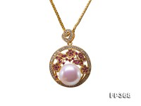 Exquisite 12mm White Freshwater Pearl Pendant in Sterling Silver