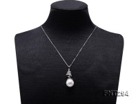 13.5-14.5mm White Edison Pearl Pendant & Earring Set in Sterling Silver